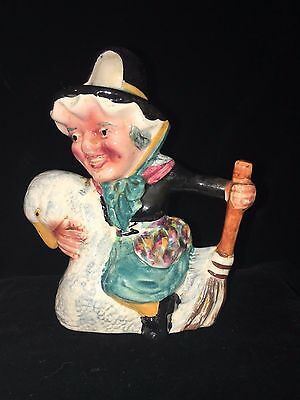 Shorter and Son Jug Mother Goose Hand-Painted Immaculate Collectible