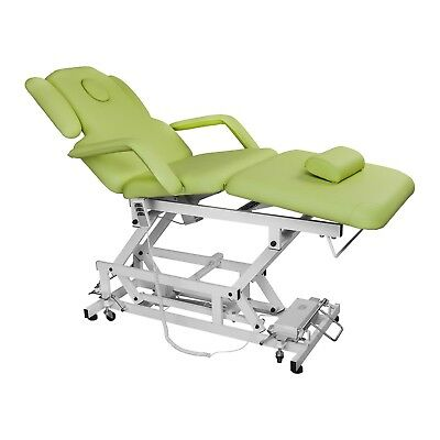 Beauty Therapy Bed Massage Treatment Pedicure Manicure Chair Light Green Table