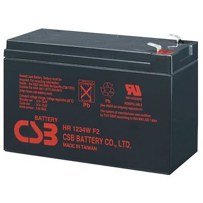 HITACHI CSB HR1234W F2 12V 34W (9Ah) High Rate Sealed Lead Acid UPS Battery