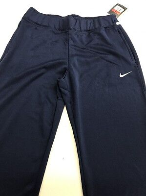 New Women's Nike Dri Fit Pants Large Navy