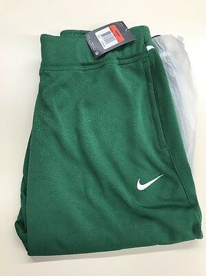 New Women's Nike Dri Fit Pants Large Dark Green