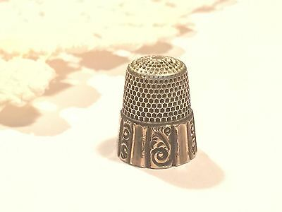 Antique Sterling Silver Thimble Ketcham McDougall MKD