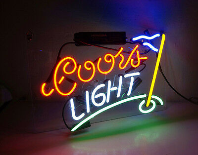 Coors Light Golf Flag Boutique Bar Room Wall Decor Neon Sign Light Beer Pub