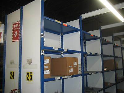Equipto V- Steel Clip Type Closed Style Shelving 36 inch  x 24 inch  x 8 feet