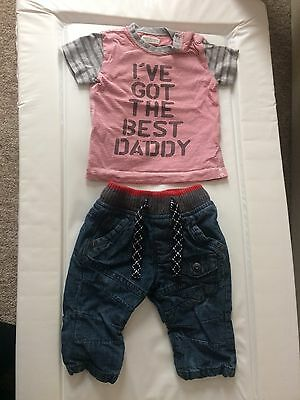 Boys Next Outfit 3-6 Months Top And Jeans