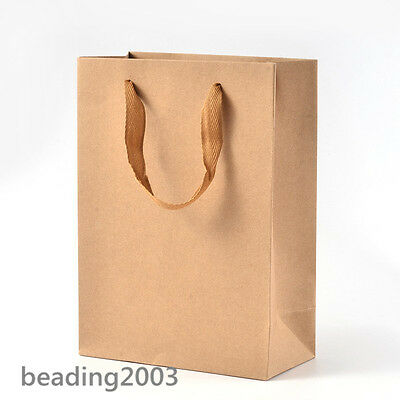 10pcs Paper Carrier Pouches Gift Shopping Bags with Strong Nylon Handle 4 Sizes