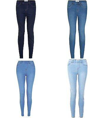 Ladies Teens New Look Jeggings Jeans Blue Sizes 4 6 8 10 12 14 16 18 Leg 24-32