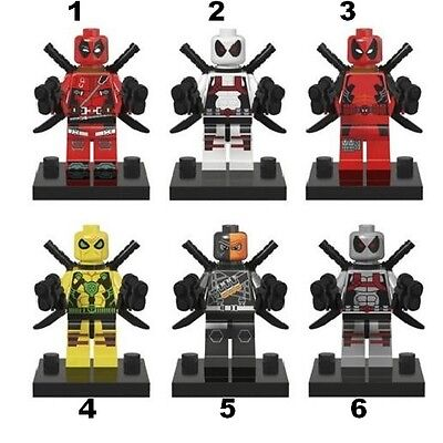 @cadeau Geek@ Block Deadpool Marvel Comics Diy Type Lego Construction