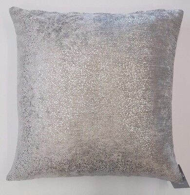 "Silver Grey Luxury Velvet Glamour Glitter  Damask 18"" Cushion Cover £6.99 Each"