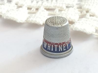 Vintage Thimble Aluminum Political Advertising WHITNEY FOR GOVERNOR