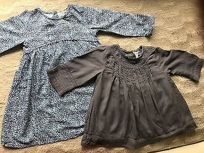 baby girl dress and top used  18-24 next