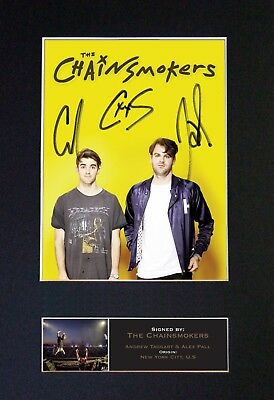 CHAINSMOKERS Mounted Signed Photo Reproduction Autograph Print A4 650