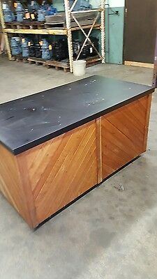 Display Cart for Trade Shows Wood with Black Formica Top Holds up to 1000 lbs.