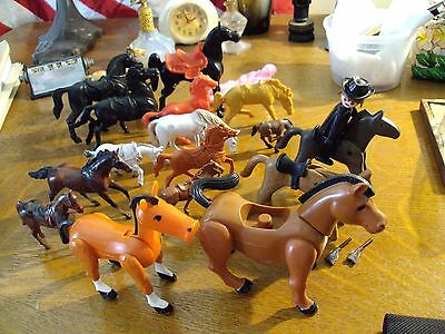 Lot Of 17 Various Horses, Geobra , Breyer & Archer +