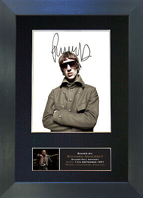 RICHARD ASHCROFT Verve Mounted Signed Photo Reproduction Autograph Print A4 657