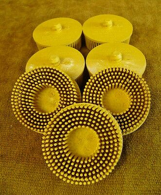 3M Scotch-brite Roloc Bristle Discs 07525 80 Grade Medium Yellow **Qty. 7**