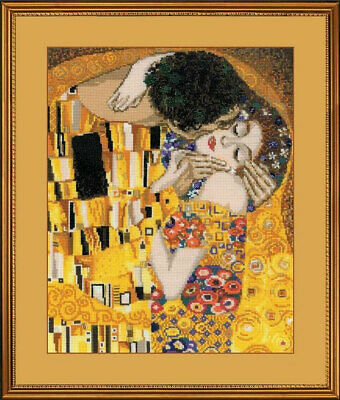 Riolis Stickpackung - The Kiss By Klimt, Zählmuster