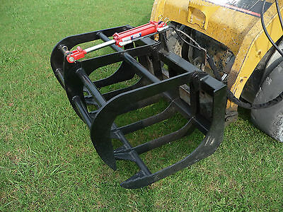 "Bobcat Skid Steer Attachment - 48"" Root Rake Grapple Bucket - Free Shipping!!!"