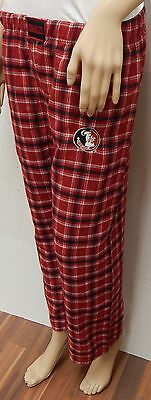 Florida State University FSU Seminoles Plaid Pajama Lounge Pants- Size Large