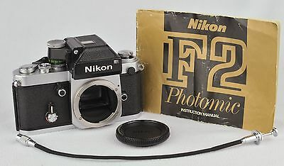 Nikon F2 with DP-1 finder,body cap, manual, cable release EXCELLENT & WORKING