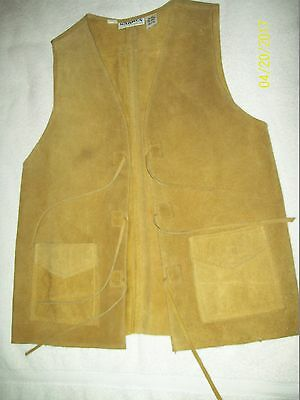 Vintage Used Suede Leather Vest-Men's Or Women's-Made In Mexico