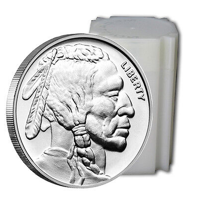 1 oz. Pure Silver Buffalo Round - Roll of 20