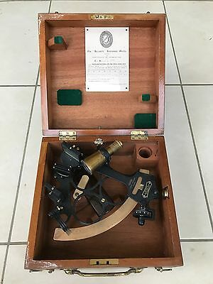 Antique Heath & Co Hezzanith Ships Marine Sextant 1963