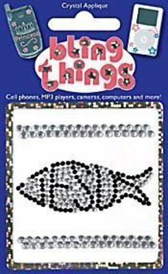 Jesus Fish Crystal Applique Cell Phone BLING THING iPhone Sticker iPod Decal