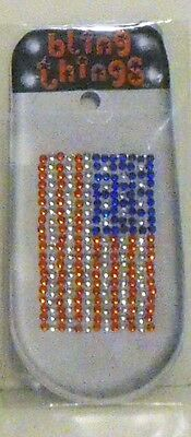 USA Flag Crystal Crystal Cell Phone BLING THING iPhone Sticker iPod Decal
