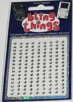 Single Clear Crystal Dots Appliqué Cell Phone BLING THING iPod Sticker Decal