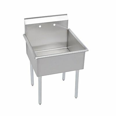 Elkay 1 Compartment Professional Grade Commercial Kitchen Stainless Steel Sink,