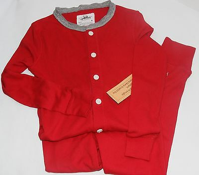 NEW! J. Crew CREWCUTS Red Union Suit Pajamas Kids 6 Boys Girls  Too Cute!