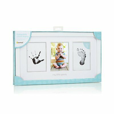 Pearhead-Ubbi Baby Photo Frame Color White Unisex with Wooden Frame