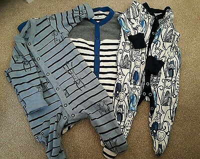 Baby boys ×3 sleepsuit from next . Up to 1 month size.