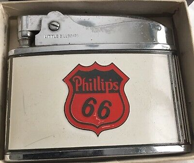 Vintage Phillips 66 Oil & Gas  Flat Adverting Lighter with Original Box