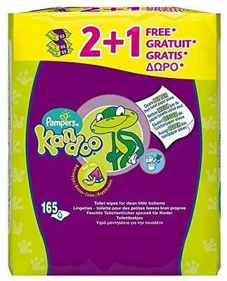 Pampers Kandoo Toilet Wipes Magic Melon 165 Wipes Flushable Moistened Cleaning