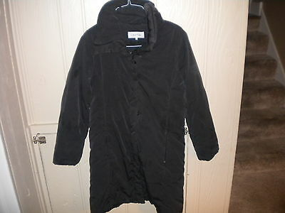 Calvin Klein Womens Black Puffy  Winter Jacket Coat Size S Small Women