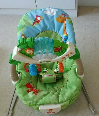 Fisher Price Rainforest Baby Bouncer Vibrating Waterfall Chair