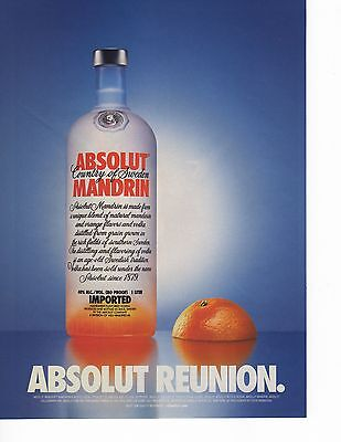 Absolut Vodka Reunion Magazine Ad