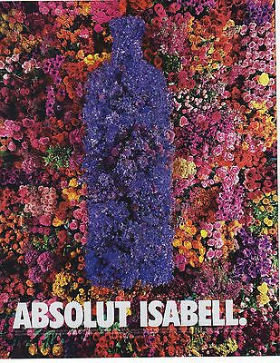 Absolut Vodka Isabell Magazine Ad