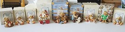Huge Lot Cherished Teddies Collection In Box 1990's Teddy