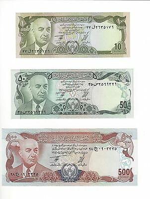 Afghanistan   10,50,500 Afghanis Assintated Prime Minister Issue Lot 3  Unc