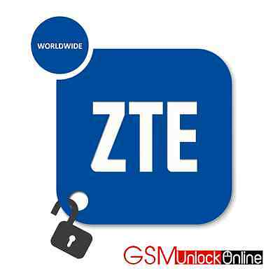 Unlock Code For ZTE F107 F160 R225 T126 T790 Blitz Blade V - Network Worldwide