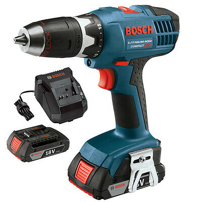 "18V Cordless Lithium-Ion 1/2"" Compact Drill Driver Bosch Tools DDBB180-02-RT"