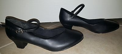 So Danca CH50 Women's Size 7 - 7 1/2 L Black Character Shoe (WITH DEFECTS)