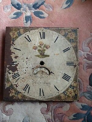 A 19th Century painted longcase clock dial