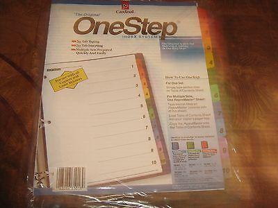 Cardinal The Original One Step Index System ISBN 083086608186