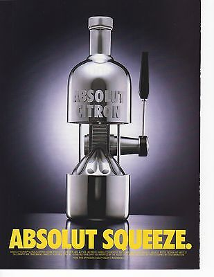 Absolut Vodka Squeeze Magazine Ad