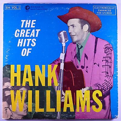 "HANK WILLIAMS Story ORIG 12"" 33RPM 2LP VG+ Greatest Hits Best of"