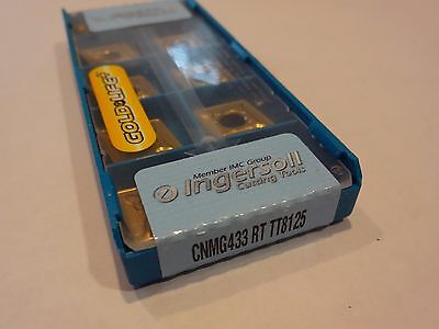 (Lot of 10) Ingersoll CNMG 433-RT TT8125 (CNMG 120412-RT) Carbide Inserts